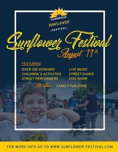 2018 Sundridge Sunflower Festival Poster